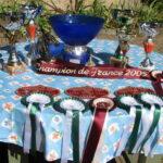 Trophées sur la table